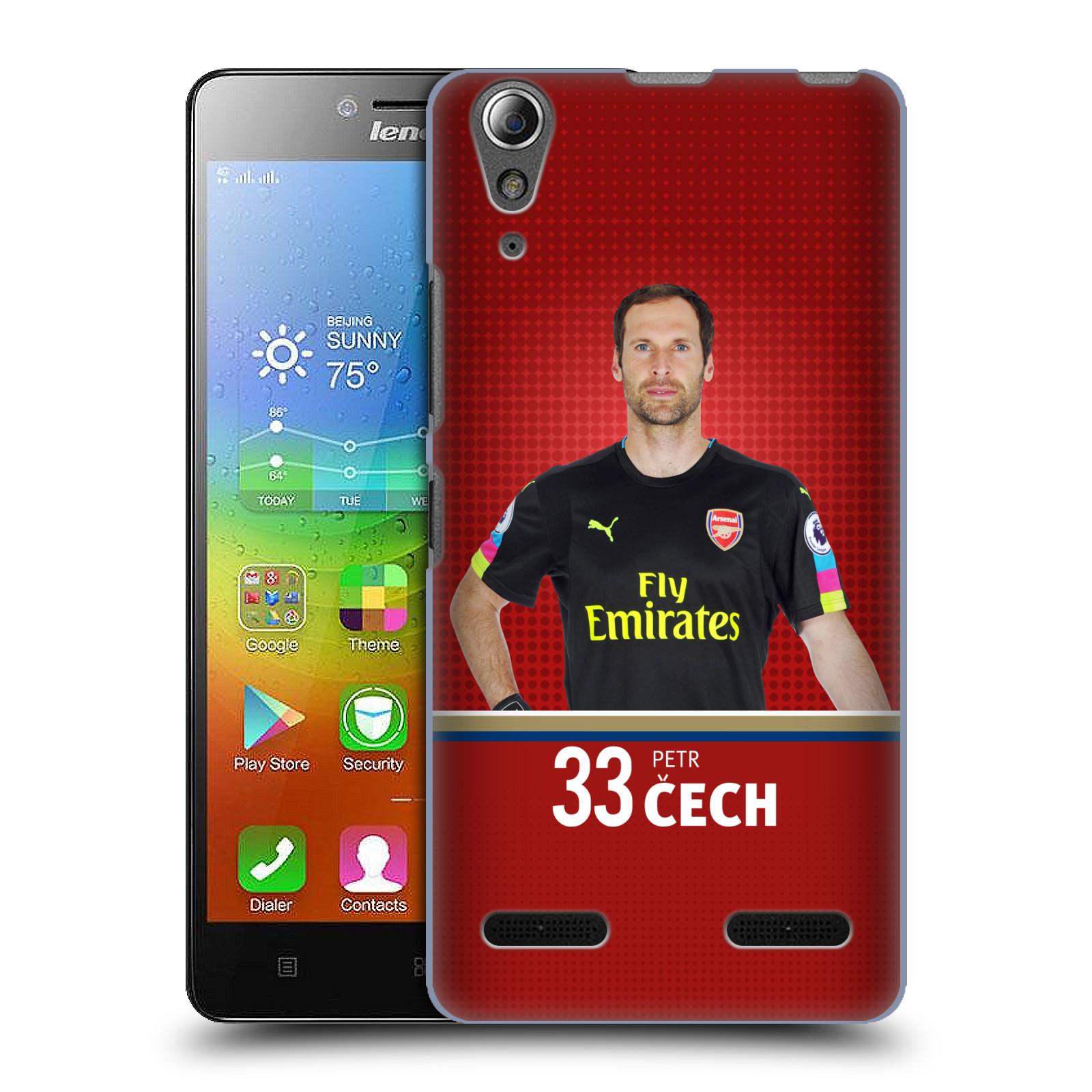 Plastové pouzdro na mobil Lenovo A6000 - Head Case - Arsenal FC - Petr Čech