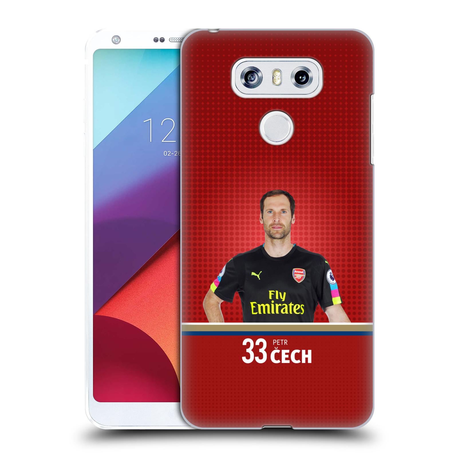 Plastové pouzdro na mobil LG G6 - Head Case - Arsenal FC - Petr Čech