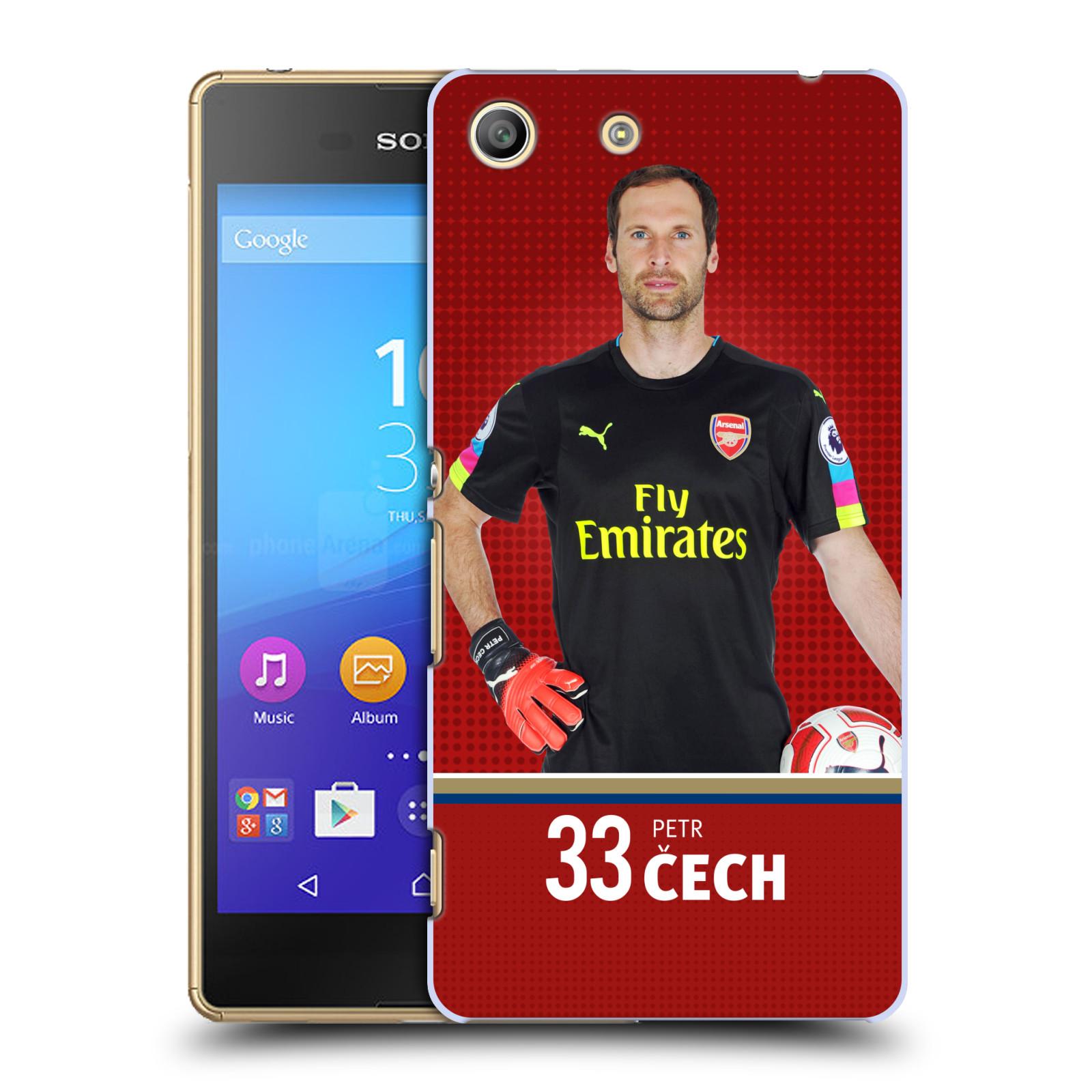 Plastové pouzdro na mobil Sony Xperia M5 - Head Case - Arsenal FC - Petr Čech