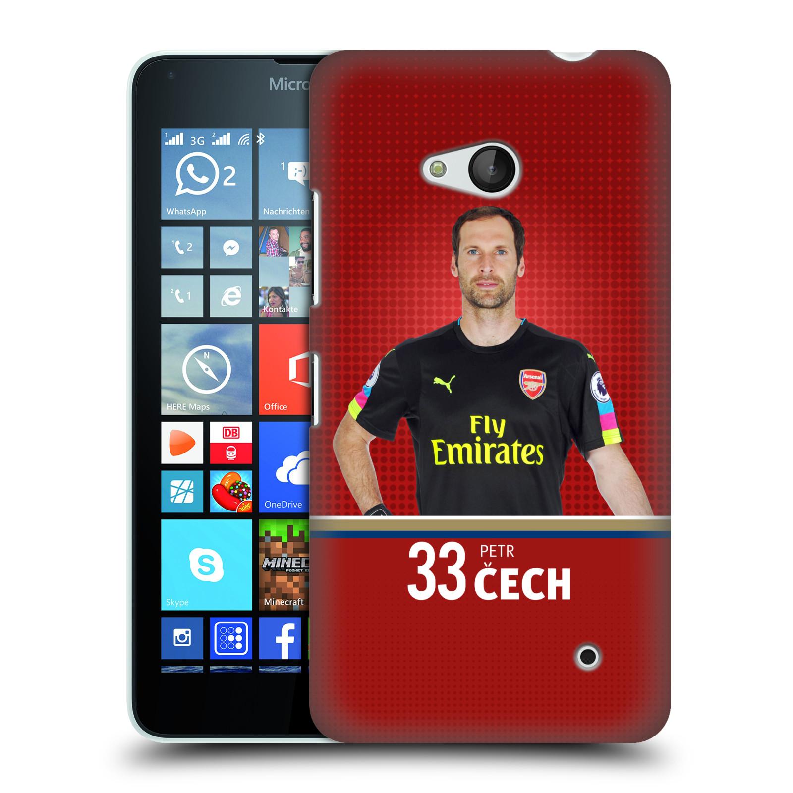Plastové pouzdro na mobil Microsoft Lumia 640 - Head Case - Arsenal FC - Petr Čech