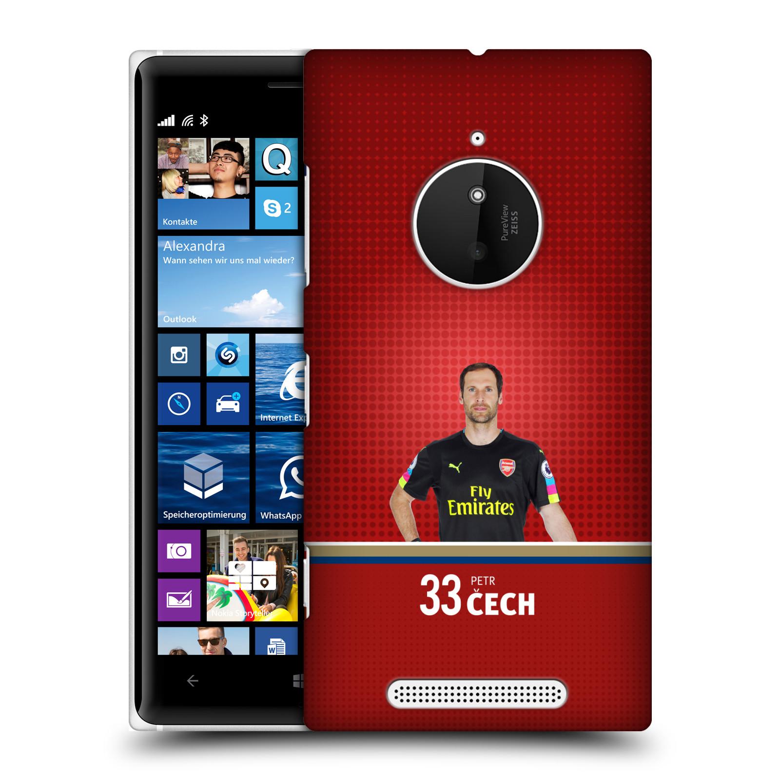 Plastové pouzdro na mobil Nokia Lumia 830 - Head Case - Arsenal FC - Petr Čech