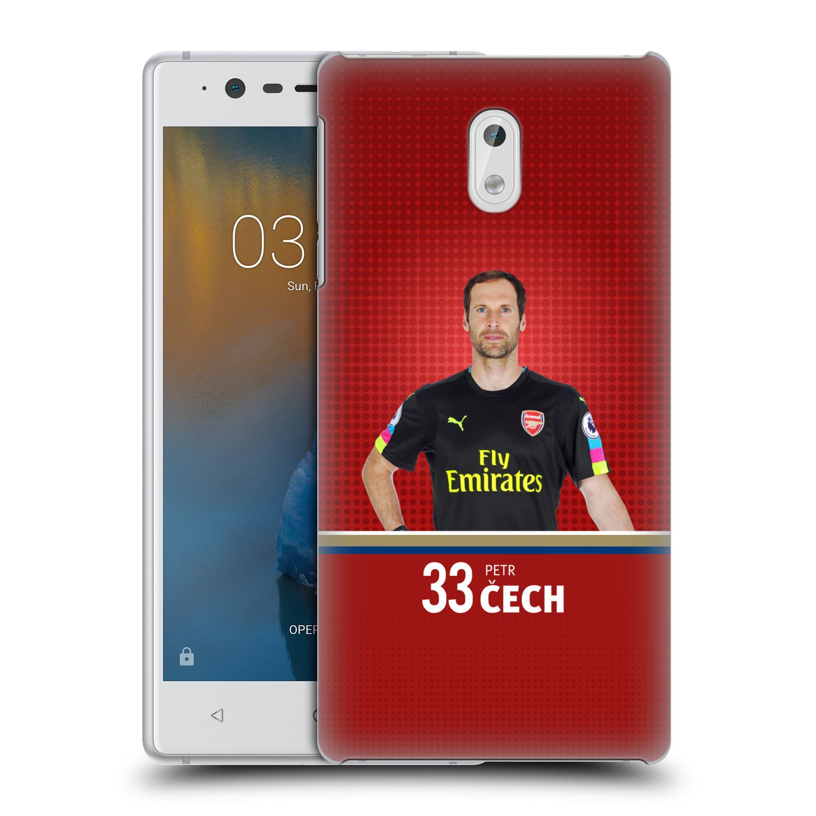 Plastové pouzdro na mobil Nokia 3 Head Case - Arsenal FC - Petr Čech