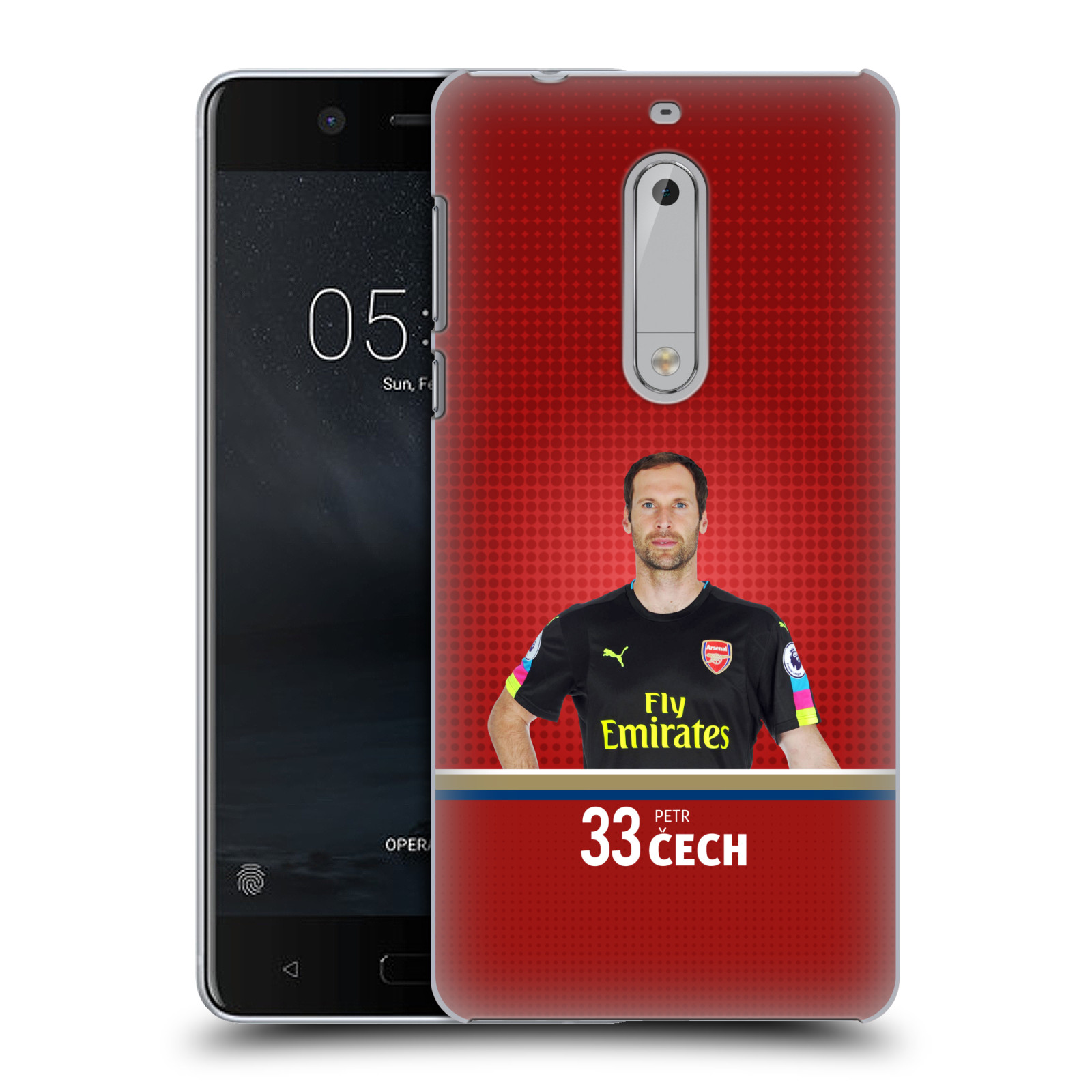Plastové pouzdro na mobil Nokia 5 Head Case - Arsenal FC - Petr Čech
