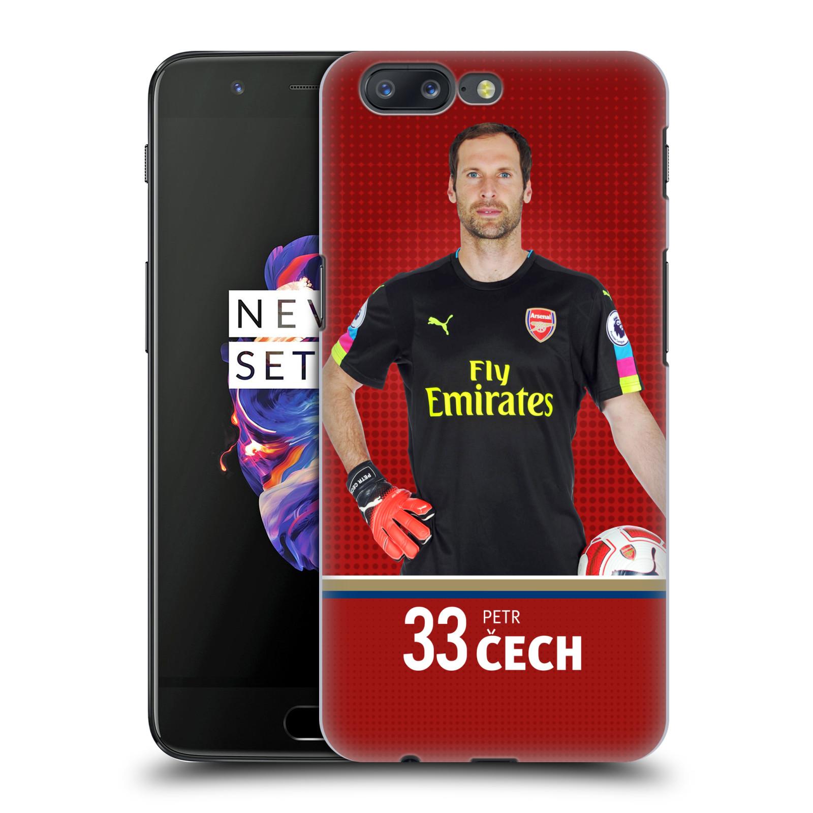 Plastové pouzdro na mobil OnePlus 5 - Head Case - Arsenal FC - Petr Čech