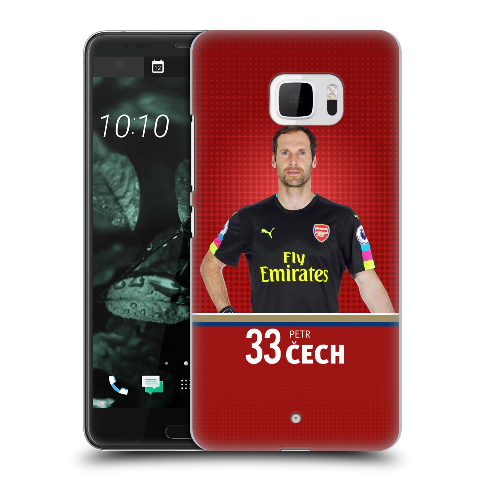 Plastové pouzdro na mobil HTC U Ultra Head Case - Arsenal FC - Petr Čech