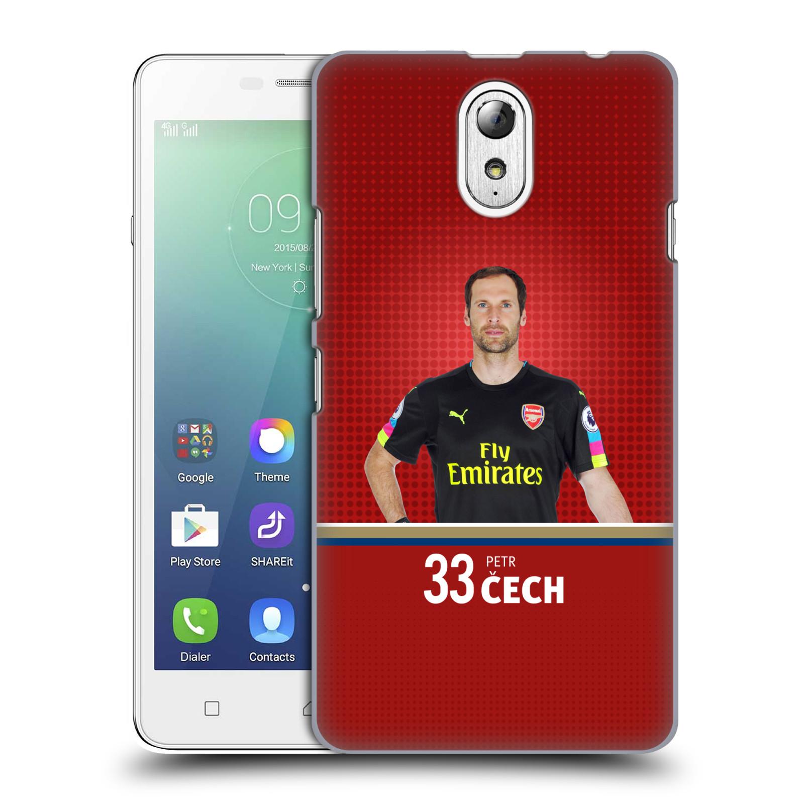 Plastové pouzdro na mobil Lenovo Vibe P1m - Head Case - Arsenal FC - Petr Čech