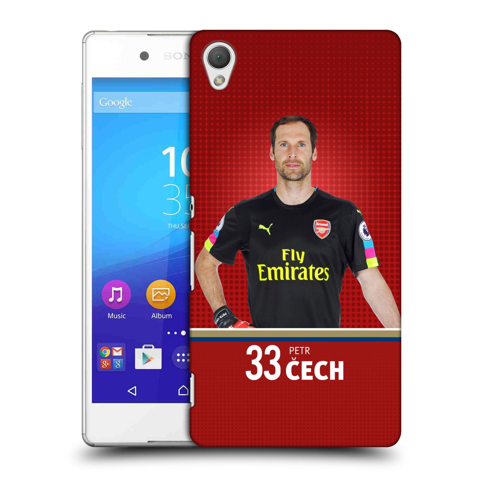 Plastové pouzdro na mobil Sony Xperia Z3+ (Plus) - Head Case - Arsenal FC - Petr Čech (Plastový kryt či obal na mobilní telefon s motivem klubu Arsenal FC - Petr Čech pro Sony Xperia Z3+ a Sony Xperia Z4 )