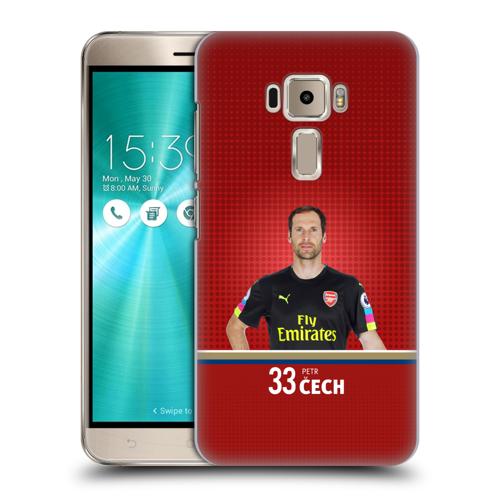 Plastové pouzdro na mobil Asus ZenFone 3 ZE520KL - Head Case - Arsenal FC - Petr Čech