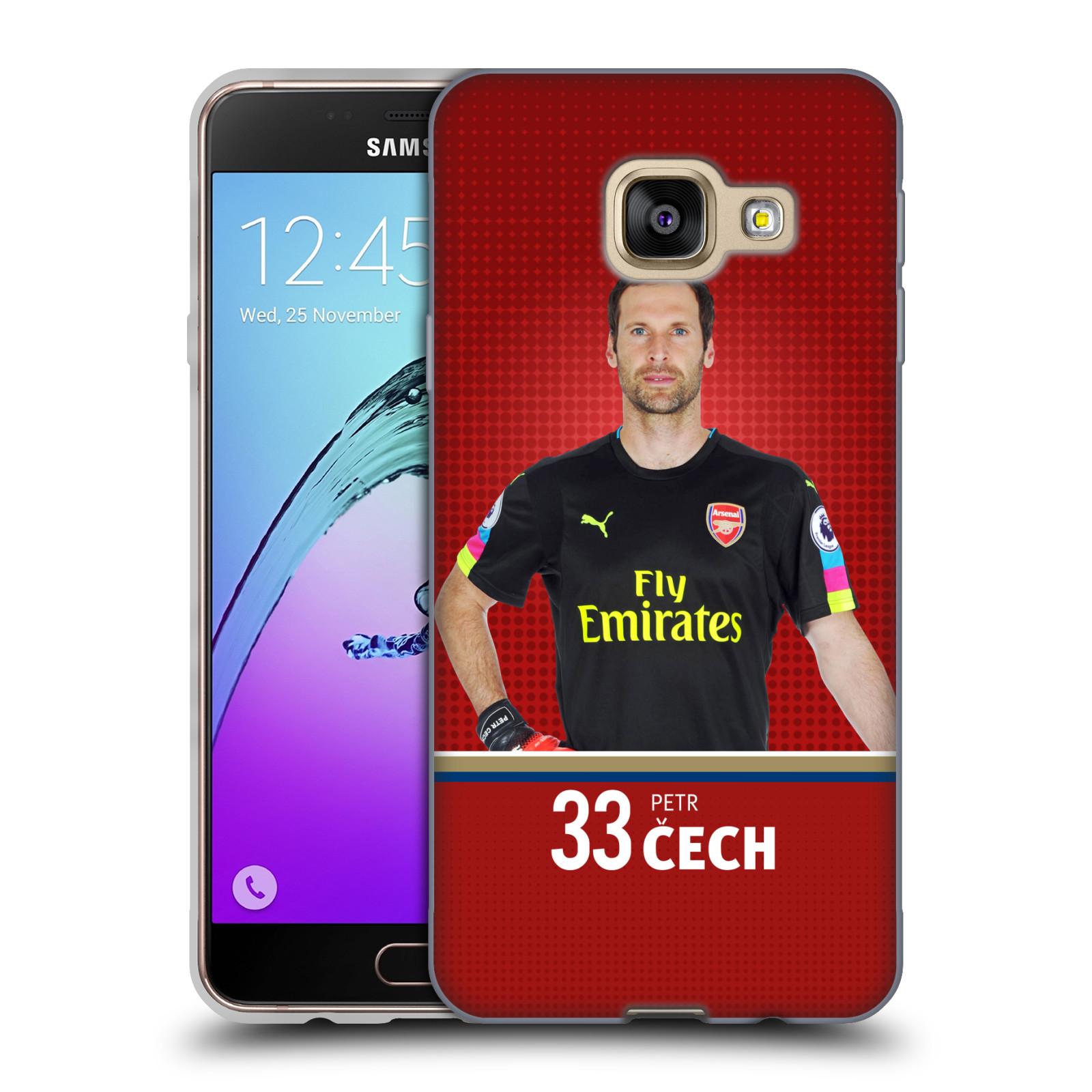 Silikonové pouzdro na mobil Samsung Galaxy A3 (2016) - Head Case - Arsenal FC - Petr Čech