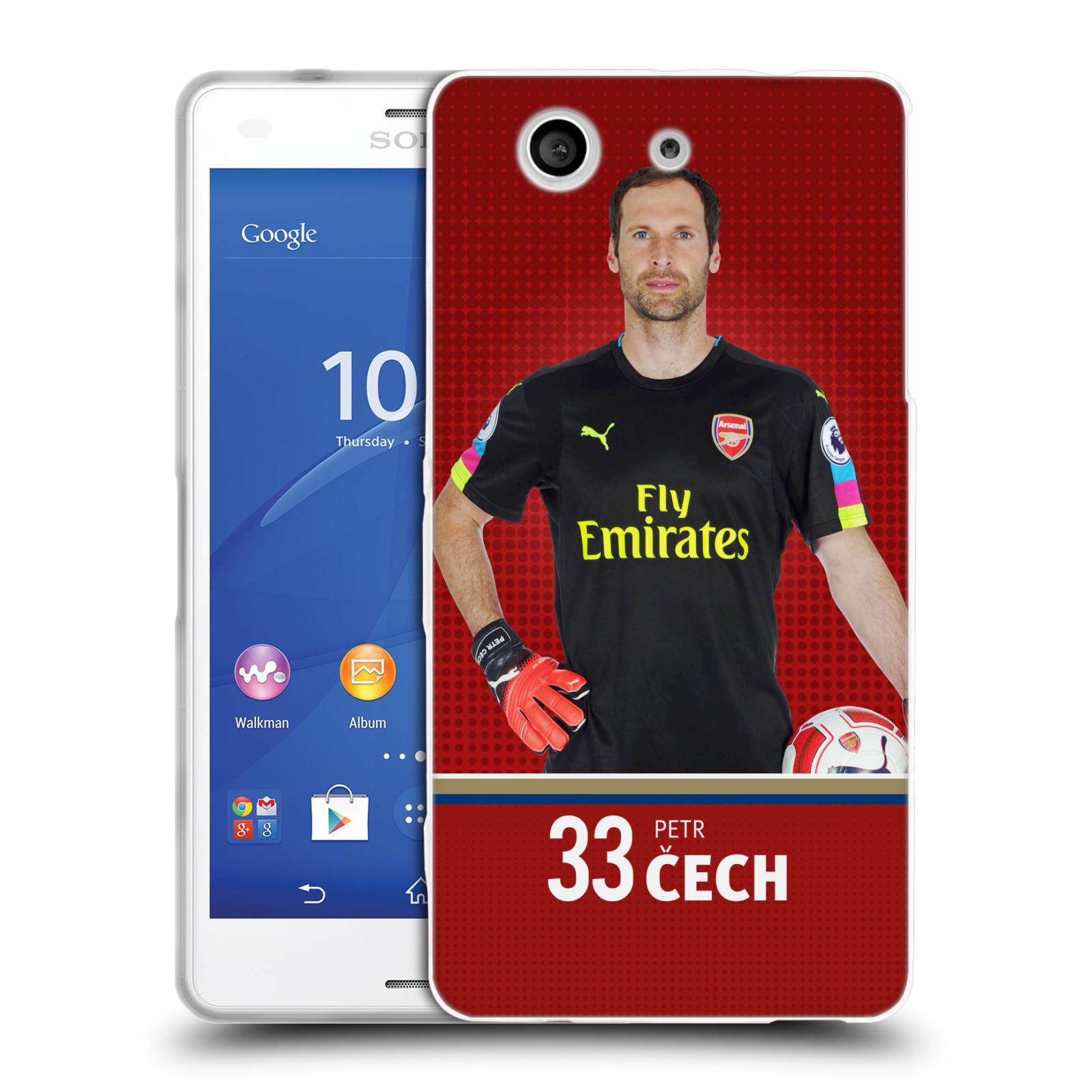 Silikonové pouzdro na mobil Sony Xperia Z3 Compact D5803 - Head Case - Arsenal FC - Petr Čech