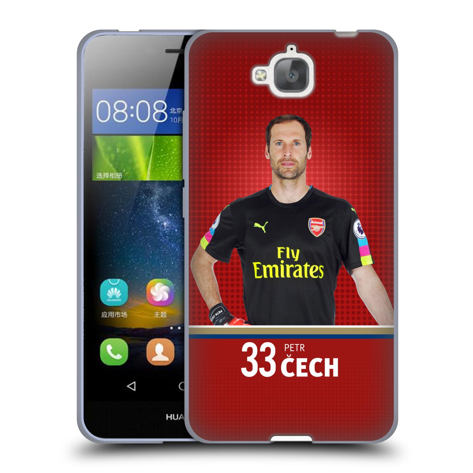 Silikonové pouzdro na mobil Huawei Y6 Pro Dual Sim - Head Case - Arsenal FC - Petr Čech