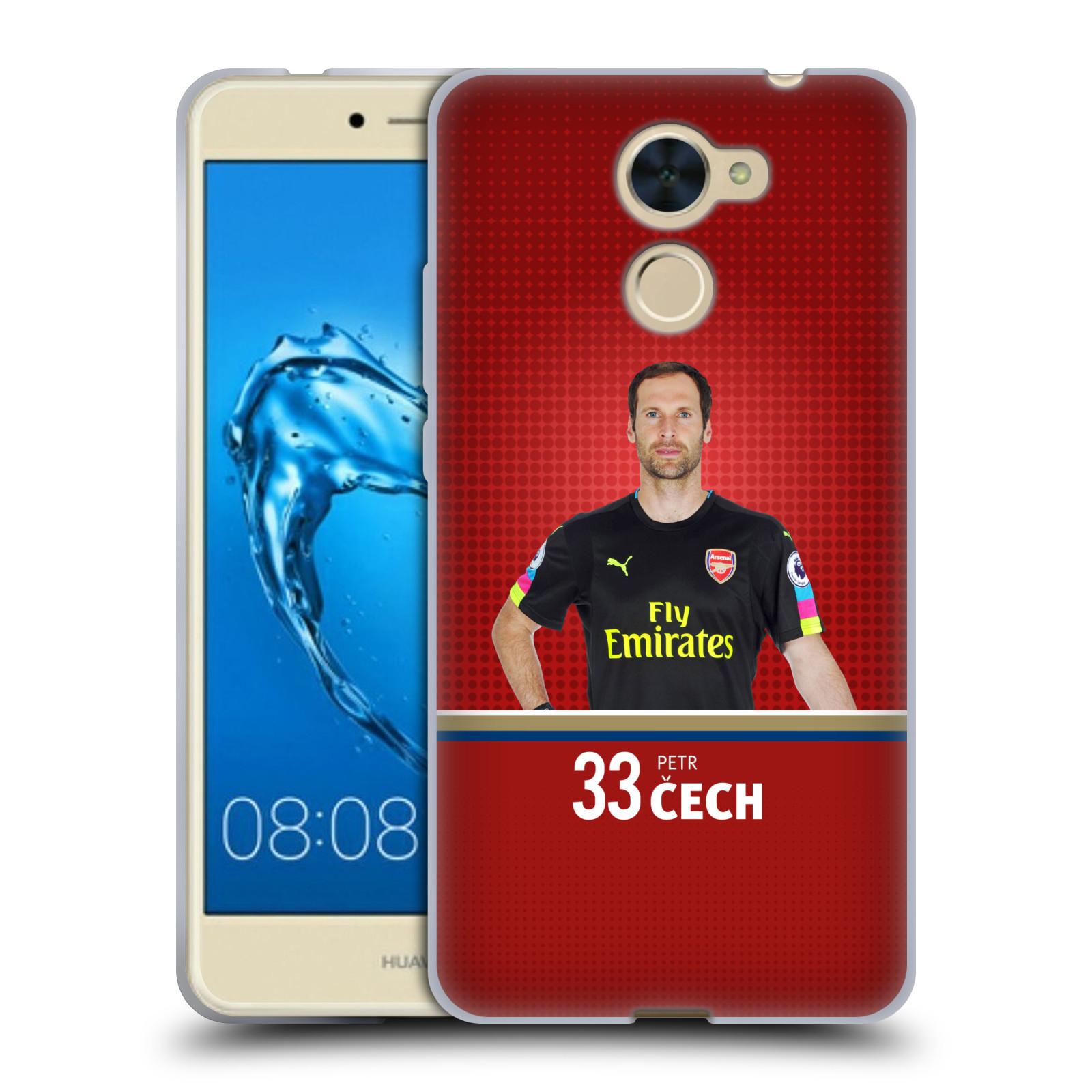 Silikonové pouzdro na mobil Huawei Y7 - Head Case - Arsenal FC - Petr Čech