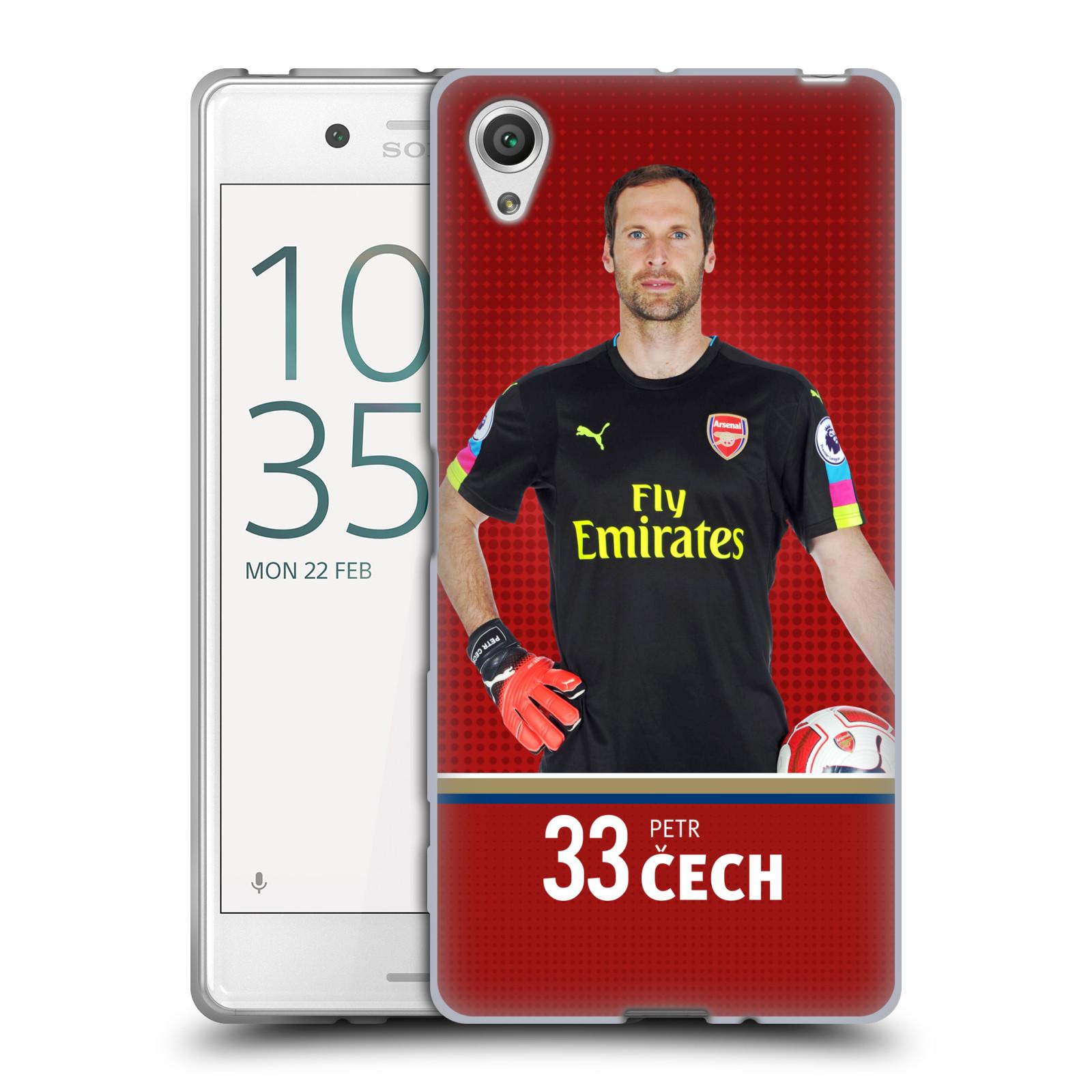 Silikonové pouzdro na mobil Sony Xperia X - Head Case - Arsenal FC - Petr Čech