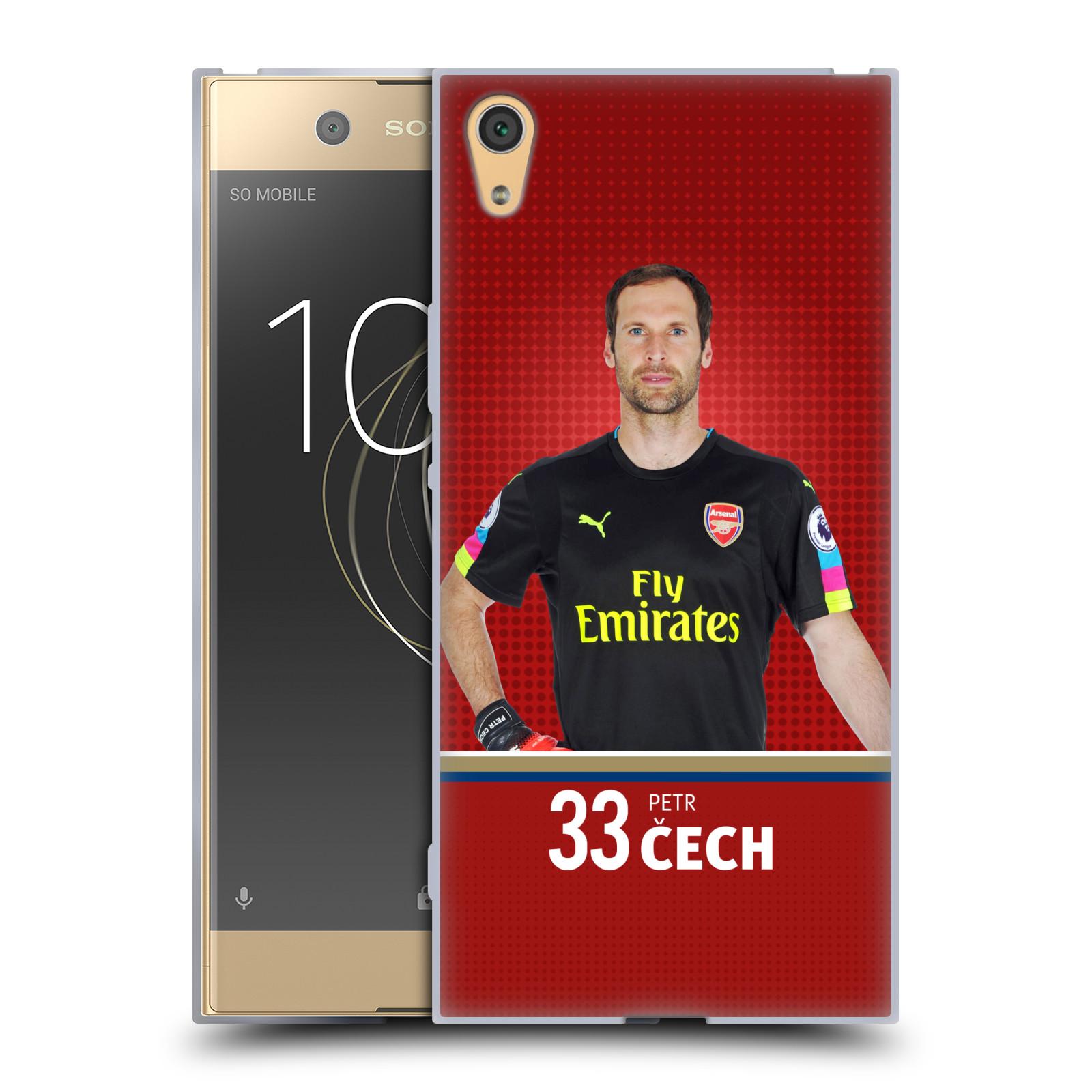 Silikonové pouzdro na mobil Sony Xperia XA1 Ultra - Head Case - Arsenal FC - Petr Čech