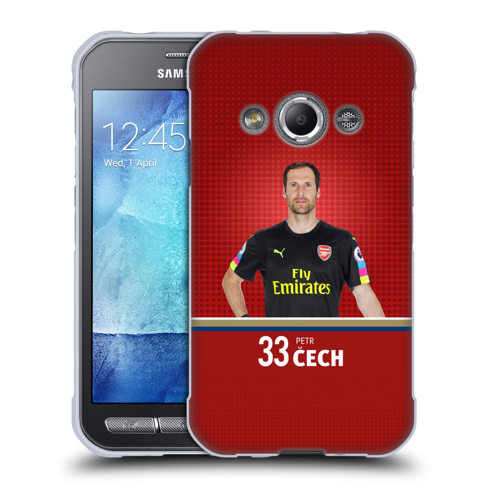 Silikonové pouzdro na mobil Samsung Galaxy Xcover 3 - Head Case - Arsenal FC - Petr Čech