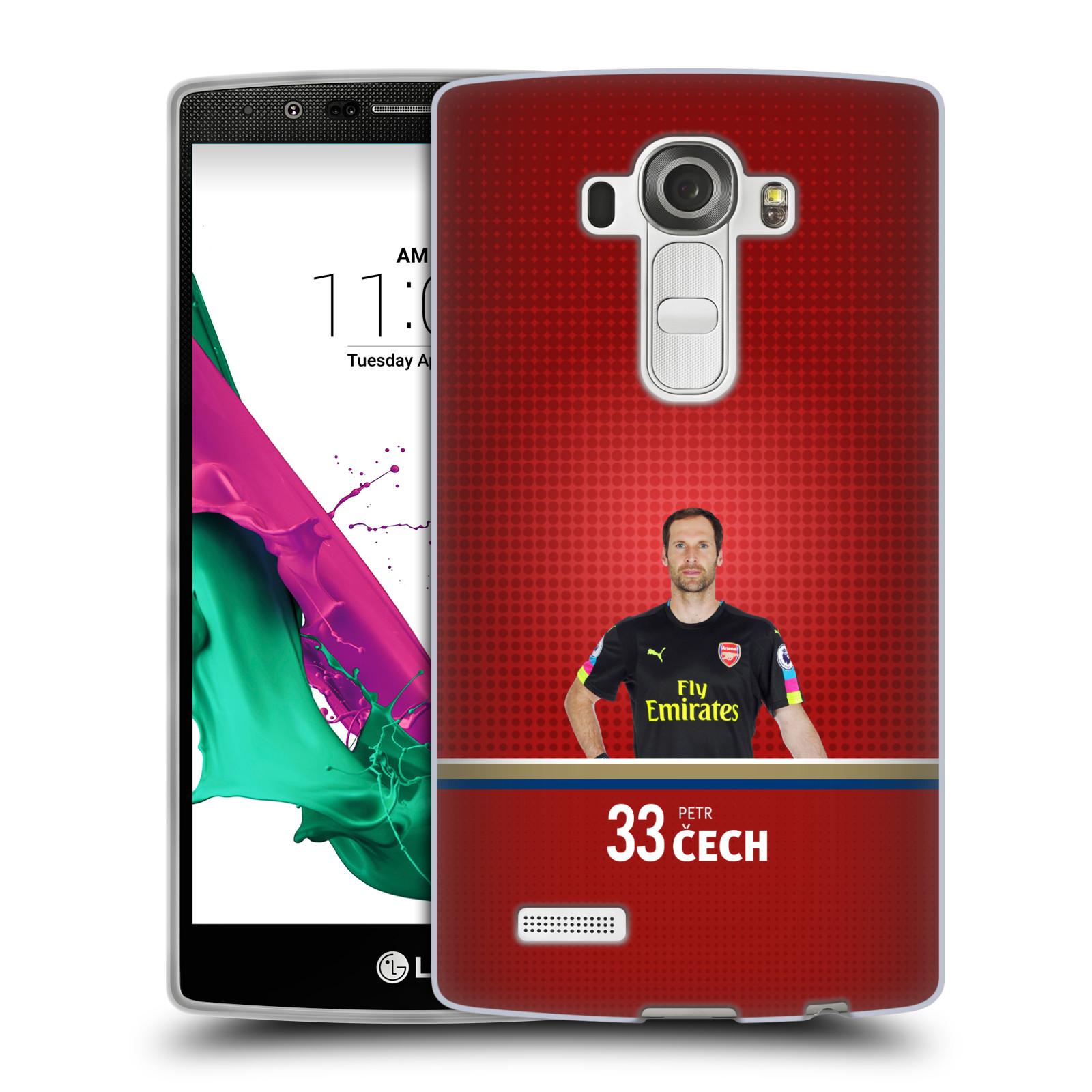 Silikonové pouzdro na mobil LG G4 - Head Case - Arsenal FC - Petr Čech