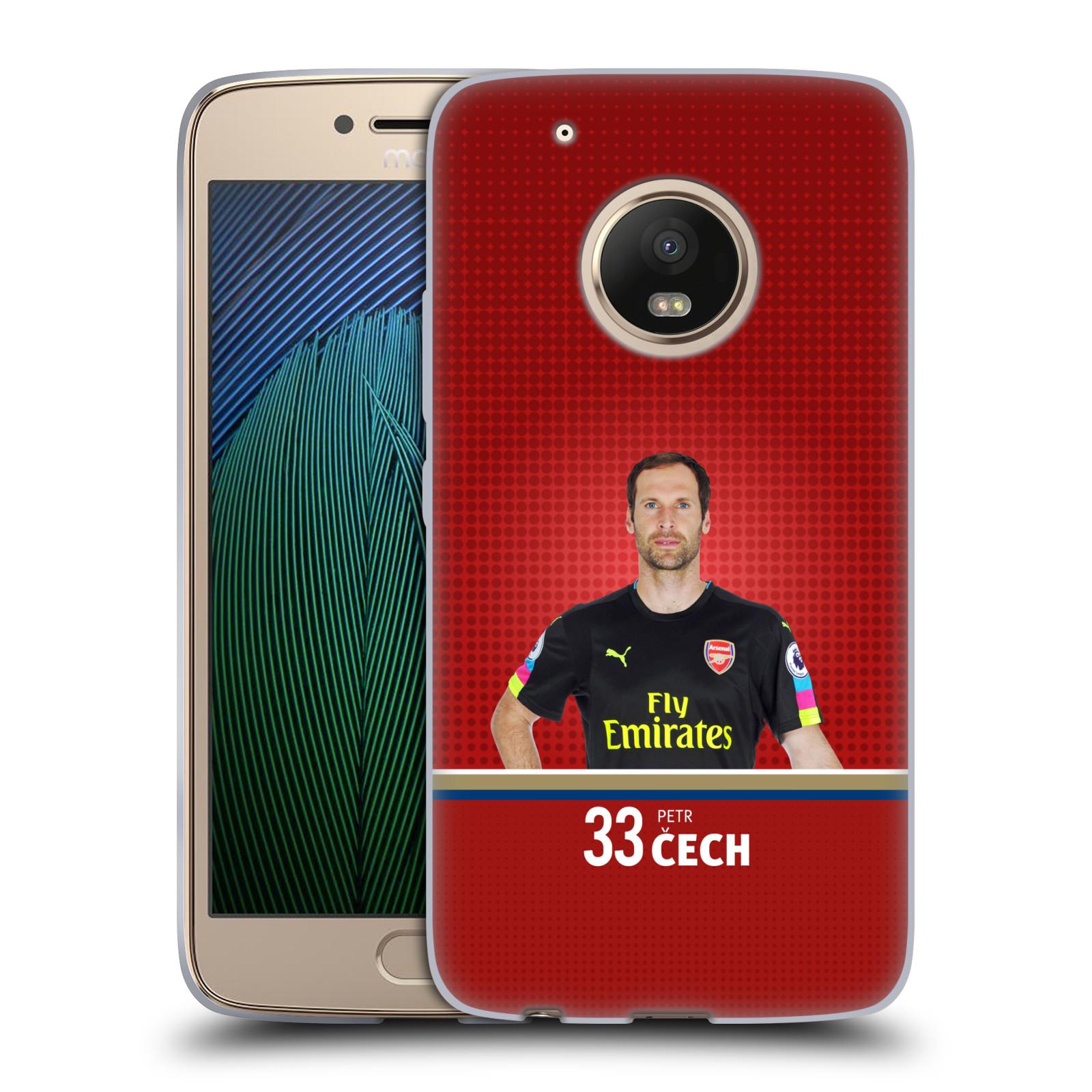 Silikonové pouzdro na mobil Lenovo Moto G5 Plus - Head Case - Arsenal FC - Petr Čech