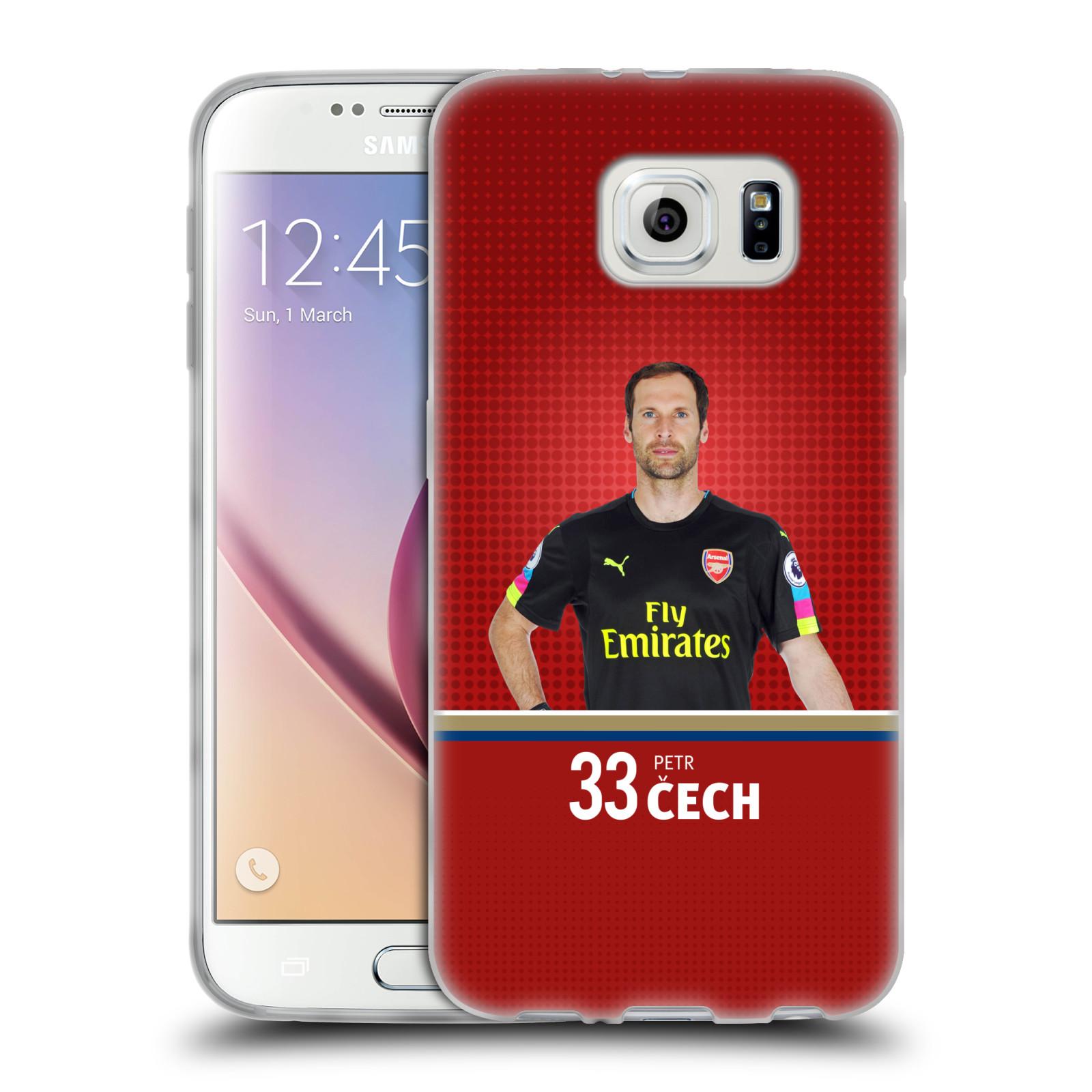Silikonové pouzdro na mobil Samsung Galaxy S6 - Head Case - Arsenal FC - Petr Čech