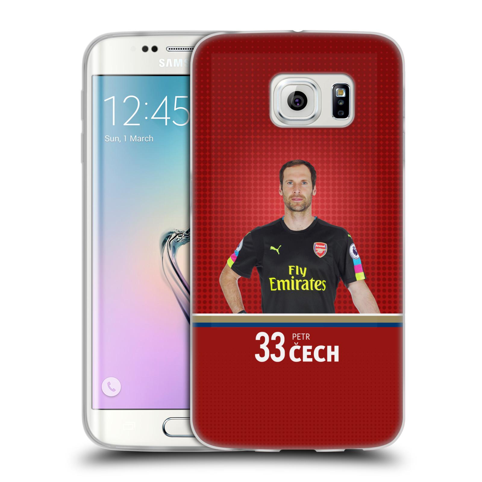 Silikonové pouzdro na mobil Samsung Galaxy S6 Edge - Head Case - Arsenal FC - Petr Čech