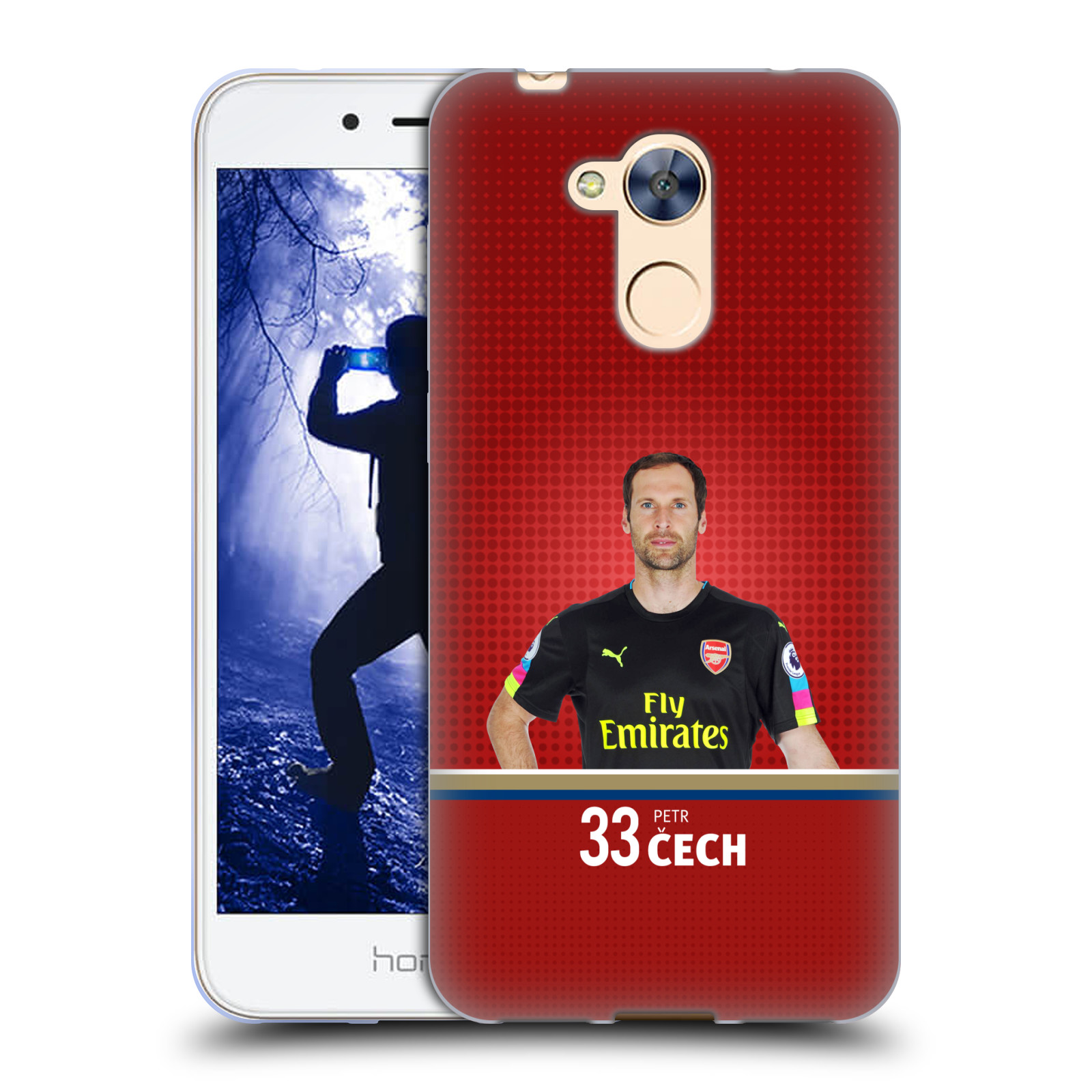 Silikonové pouzdro na mobil Honor 6A - Head Case - Arsenal FC - Petr Čech