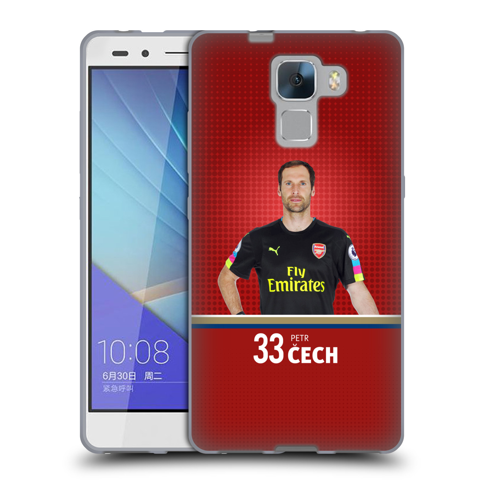 Silikonové pouzdro na mobil Honor 7 - Head Case - Arsenal FC - Petr Čech