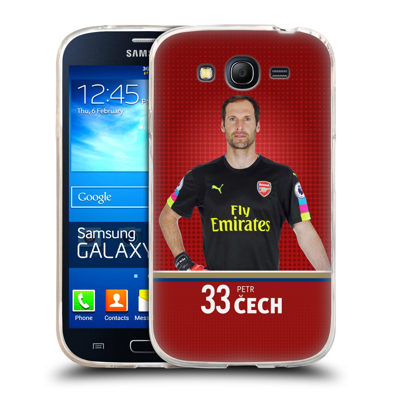 Silikonové pouzdro na mobil Samsung Galaxy Grand Neo Plus - Head Case - Arsenal FC - Petr Čech
