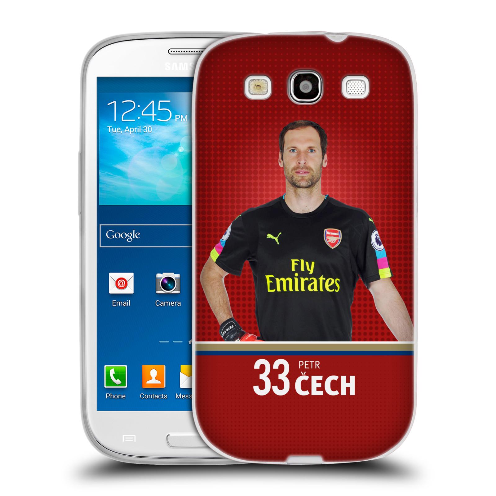 Silikonové pouzdro na mobil Samsung Galaxy S3 Neo - Head Case - Arsenal FC - Petr Čech