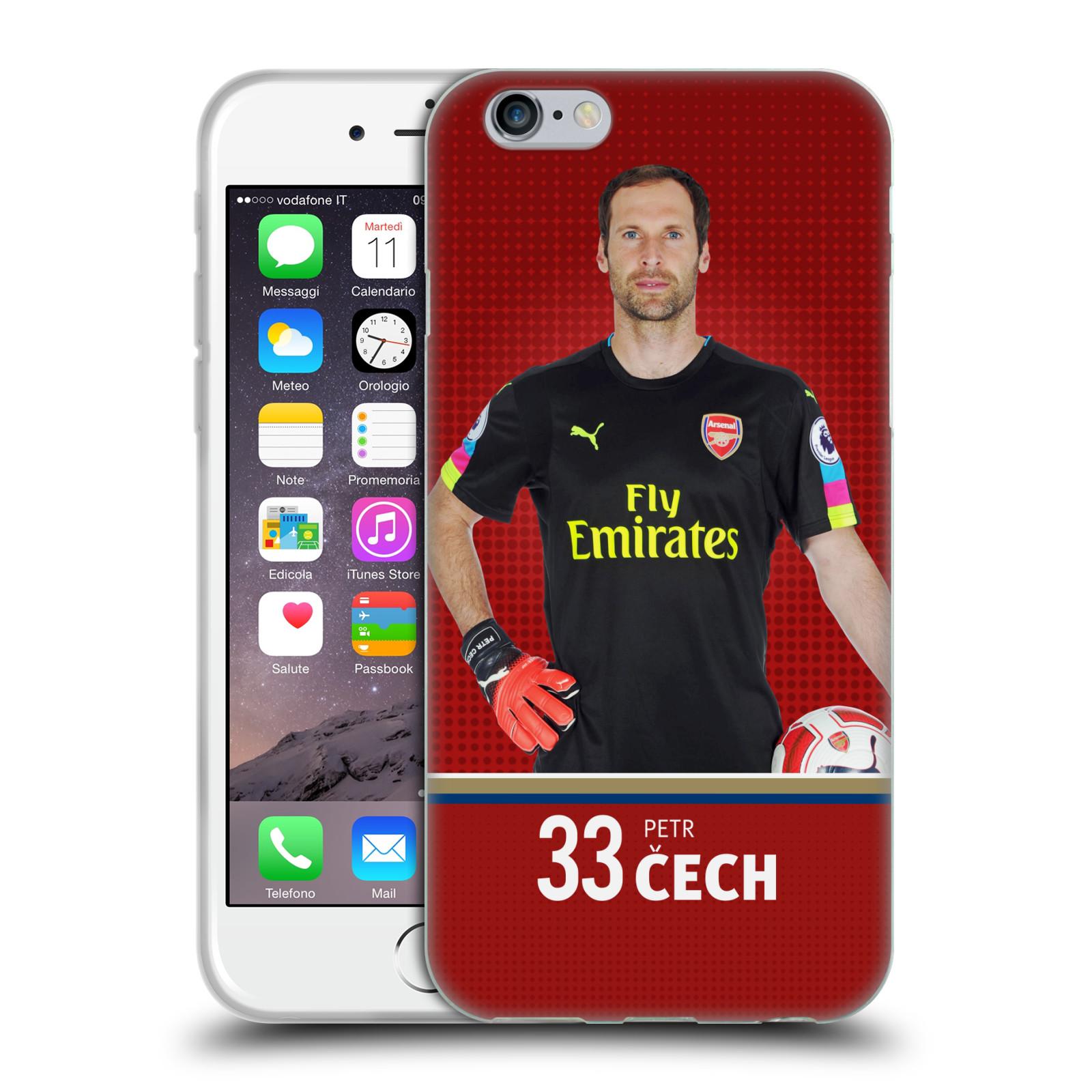 Silikonové pouzdro na mobil Apple iPhone 6 - Head Case - Arsenal FC - Petr Čech
