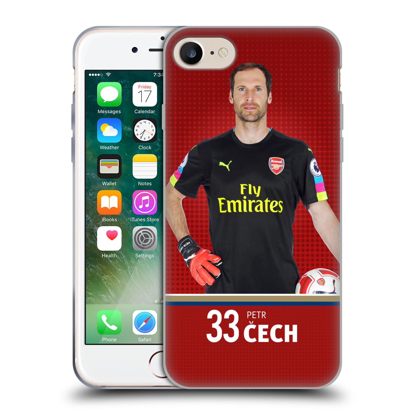 Silikonové pouzdro na mobil Apple iPhone 8 - Head Case - Arsenal FC - Petr Čech