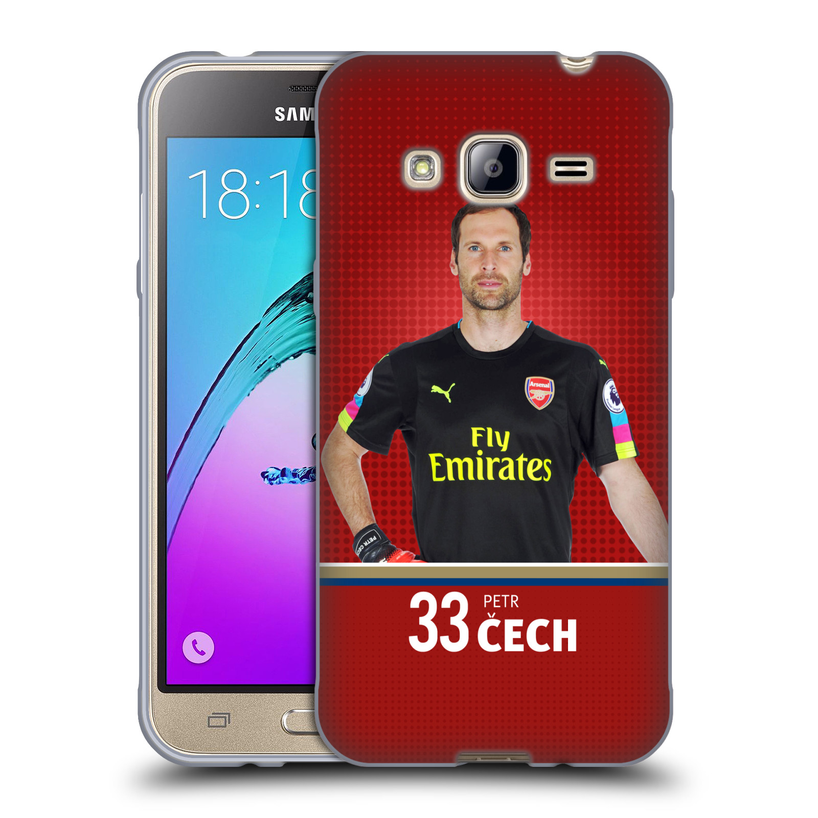 Silikonové pouzdro na mobil Samsung Galaxy J3 (2016) - Head Case - Arsenal FC - Petr Čech