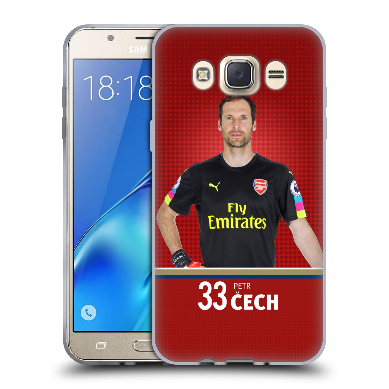 Silikonové pouzdro na mobil Samsung Galaxy J7 (2016) - Head Case - Arsenal FC - Petr Čech