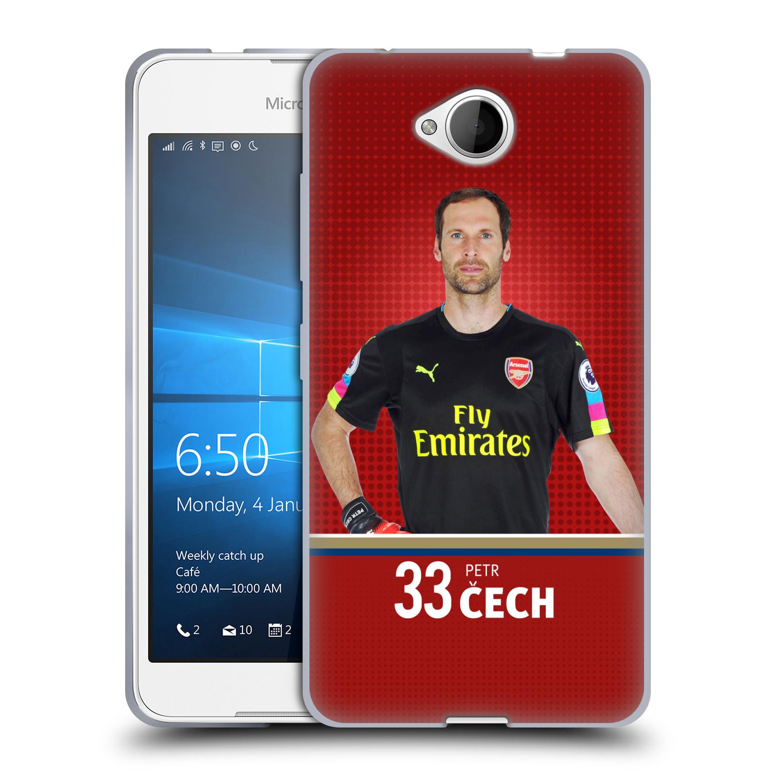 Silikonové pouzdro na mobil Microsoft Lumia 650 - Head Case - Arsenal FC - Petr Čech