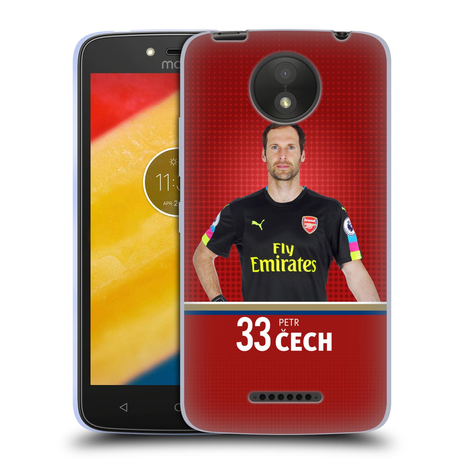 Silikonové pouzdro na mobil Lenovo Moto C Plus - Head Case - Arsenal FC - Petr Čech
