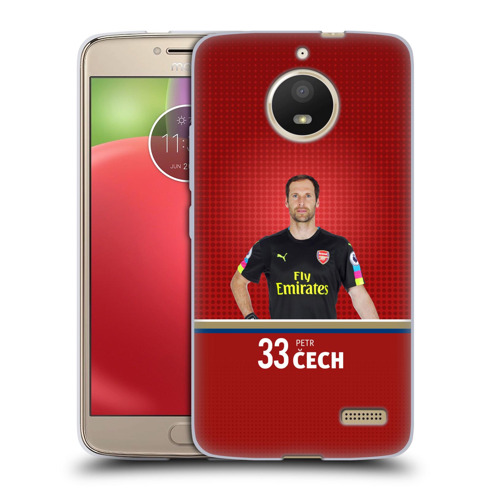 Silikonové pouzdro na mobil Lenovo Moto E4 - Head Case - Arsenal FC - Petr Čech