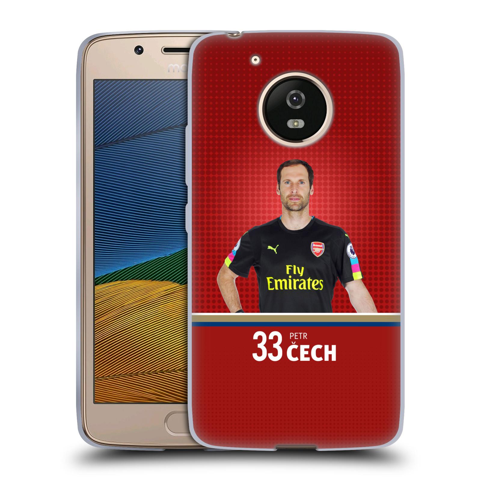 Silikonové pouzdro na mobil Lenovo Moto G5 - Head Case - Arsenal FC - Petr Čech