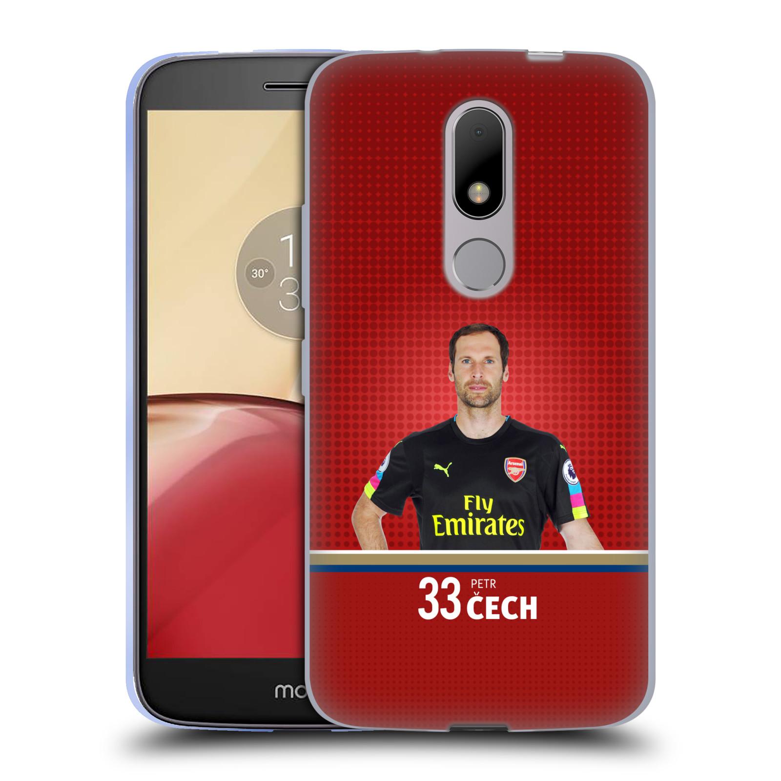 Silikonové pouzdro na mobil Lenovo Moto M - Head Case - Arsenal FC - Petr Čech
