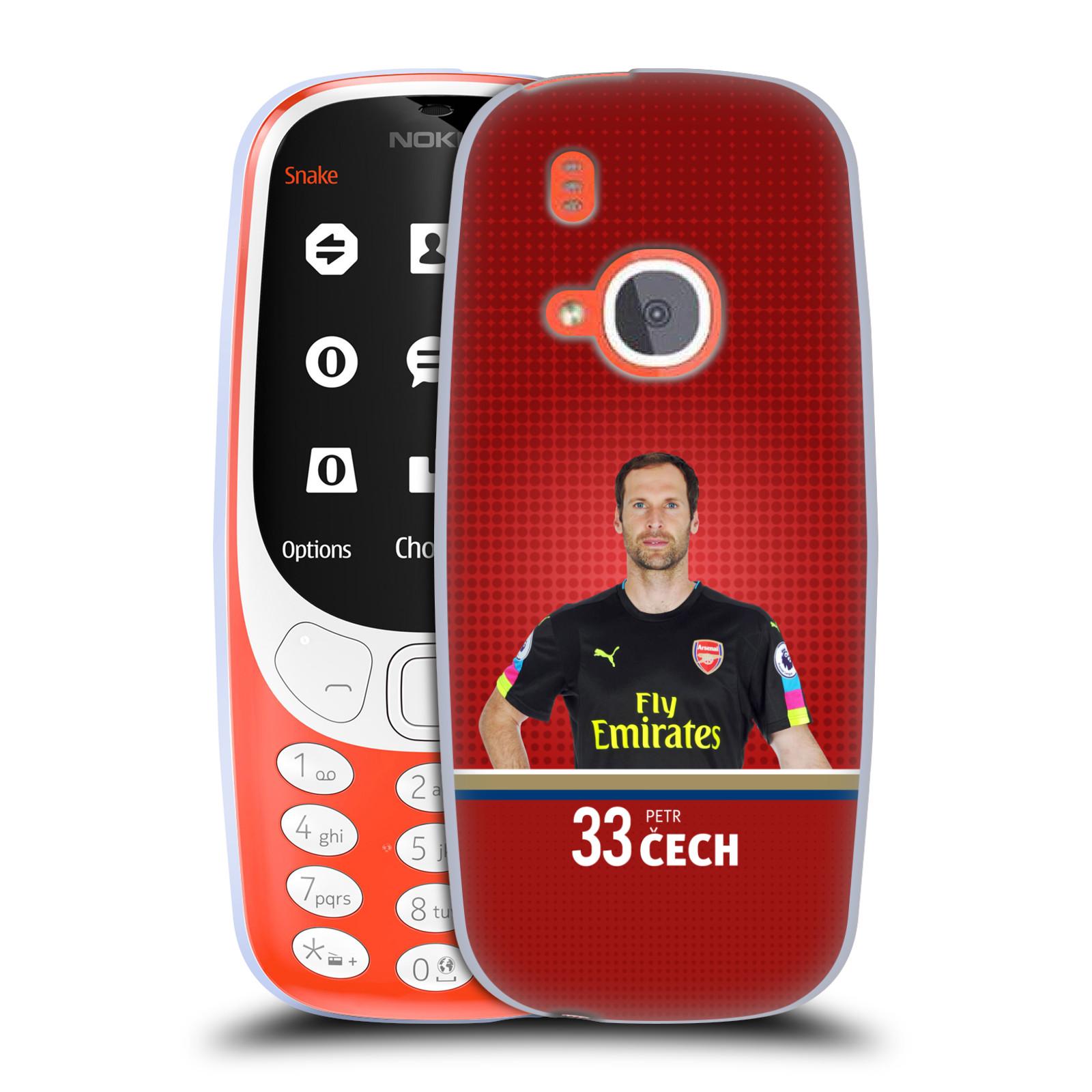 Silikonové pouzdro na mobil Nokia 3310 - Head Case - Arsenal FC - Petr Čech