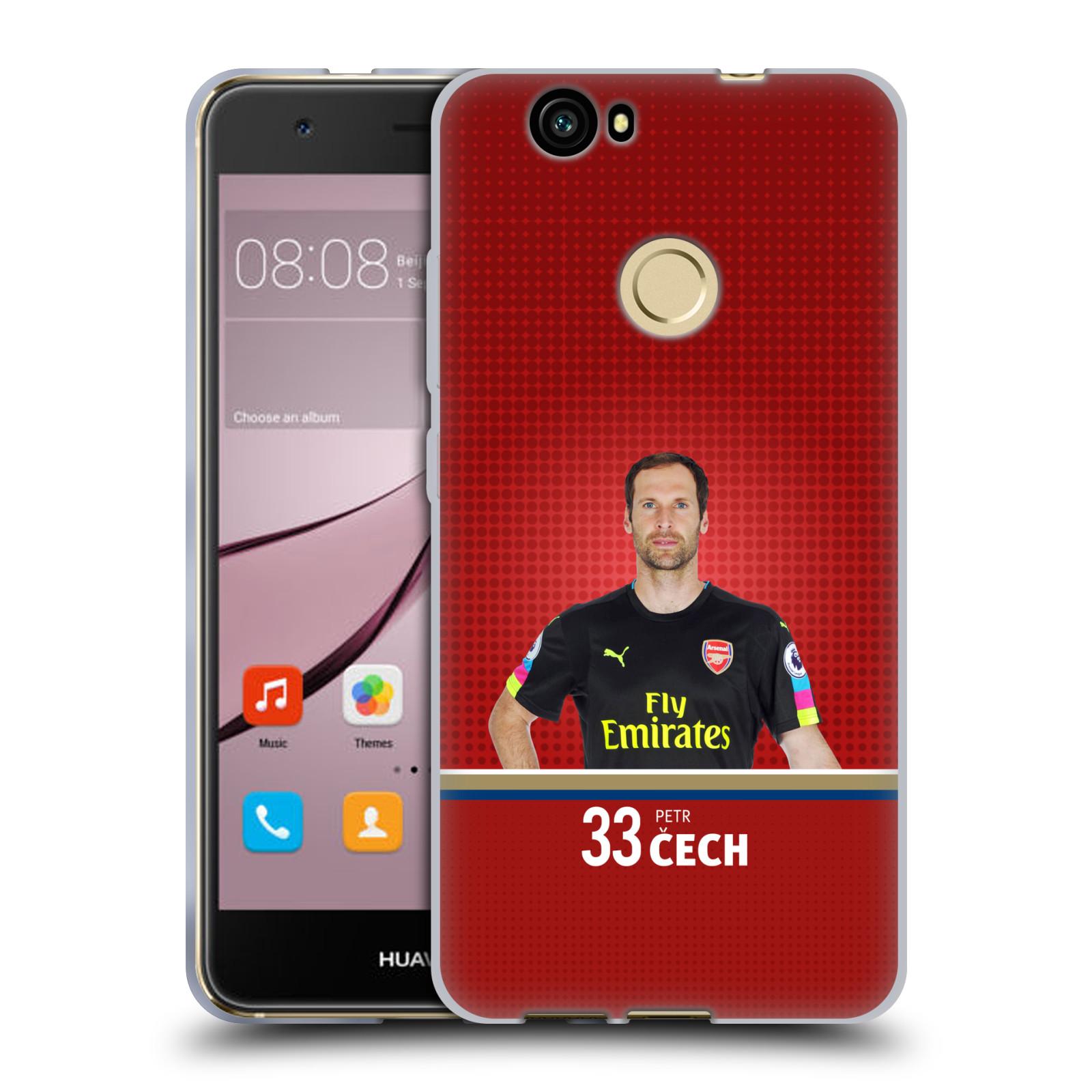 Silikonové pouzdro na mobil Huawei Nova - Head Case - Arsenal FC - Petr Čech