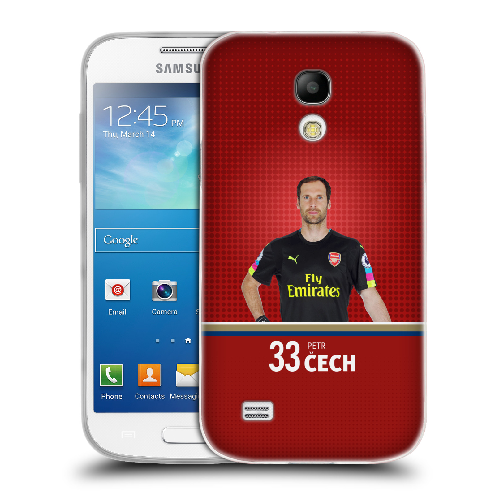 Silikonové pouzdro na mobil Samsung Galaxy S4 Mini - Head Case - Arsenal FC - Petr Čech