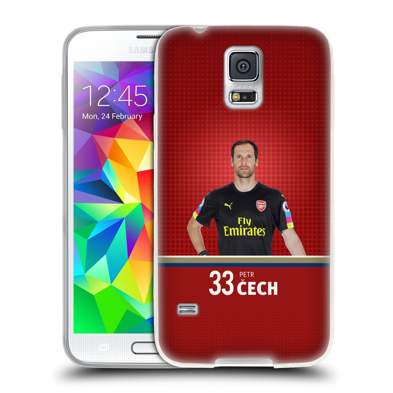 Silikonové pouzdro na mobil Samsung Galaxy S5 Neo - Head Case - Arsenal FC - Petr Čech