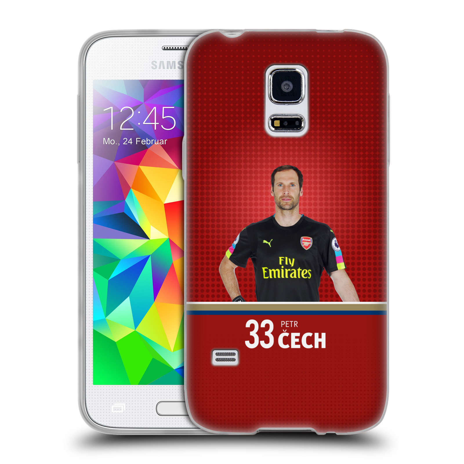 Silikonové pouzdro na mobil Samsung Galaxy S5 Mini - Head Case - Arsenal FC - Petr Čech