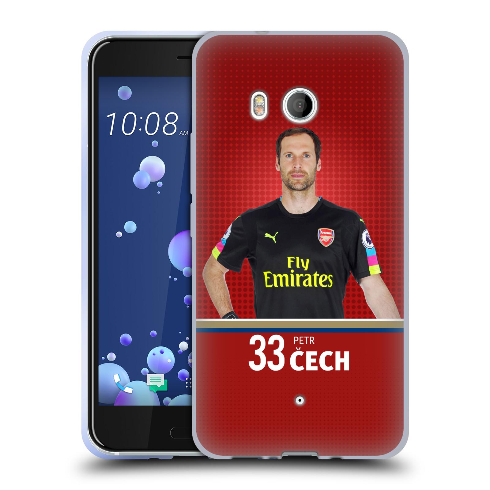 Silikonové pouzdro na mobil HTC U11 - Head Case - Arsenal FC - Petr Čech