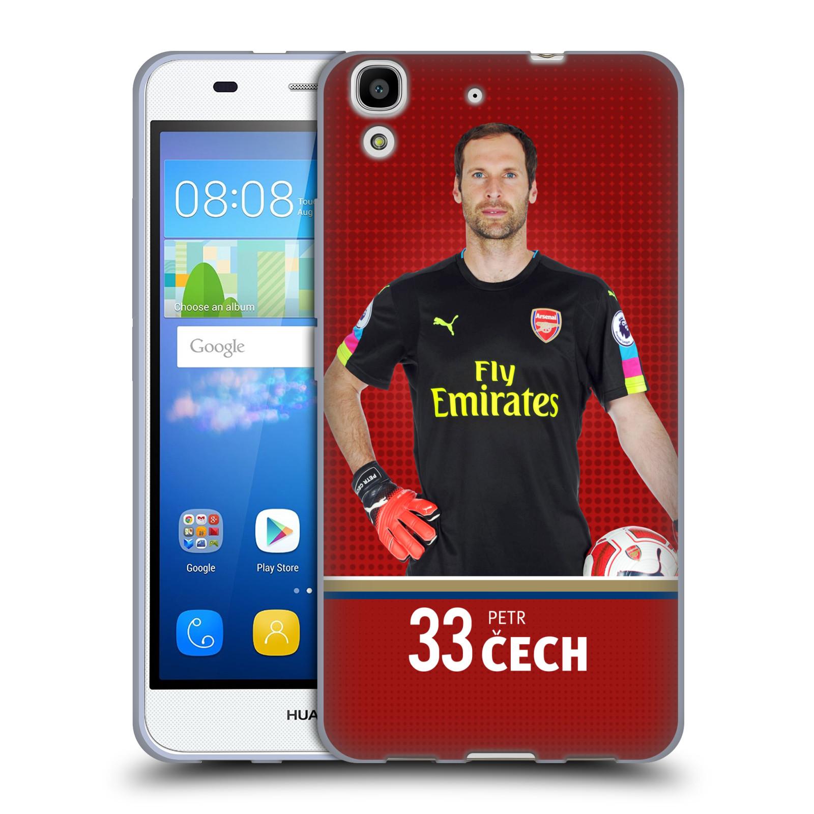 Silikonové pouzdro na mobil Huawei Y6 - Head Case - Arsenal FC - Petr Čech