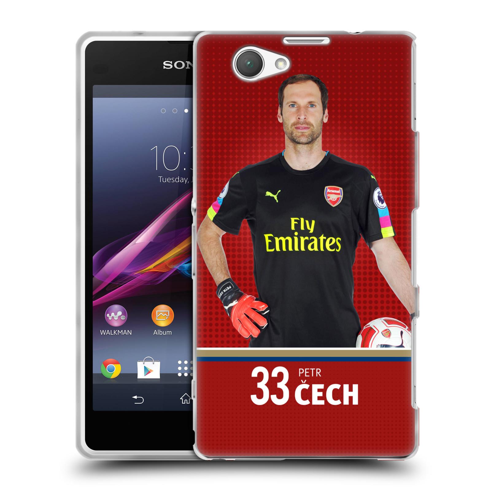 Silikonové pouzdro na mobil Sony Xperia Z1 Compact D5503 - Head Case - Arsenal FC - Petr Čech
