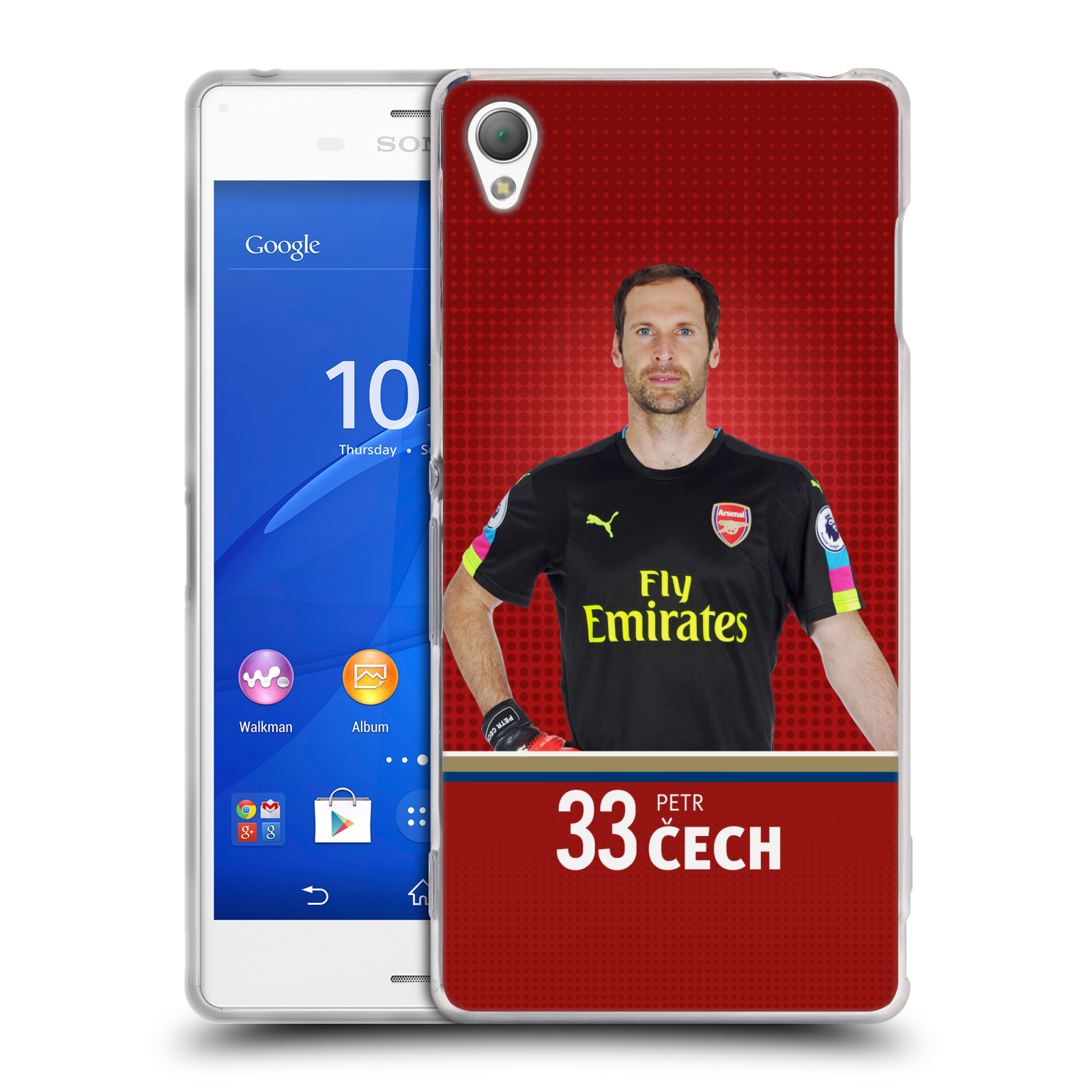 Silikonové pouzdro na mobil Sony Xperia Z3 D6603 - Head Case - Arsenal FC - Petr Čech