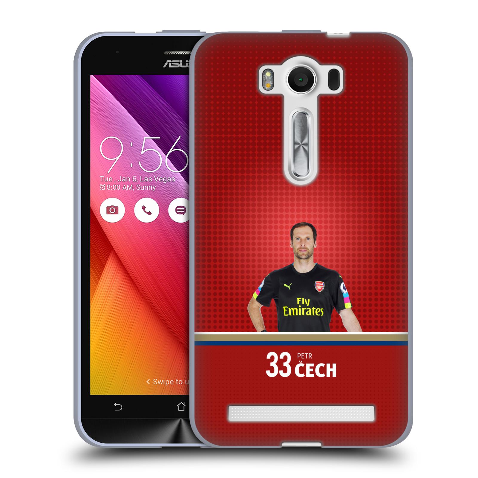 Silikonové pouzdro na mobil Asus ZenFone 2 Laser ZE500KL - Head Case - Arsenal FC - Petr Čech