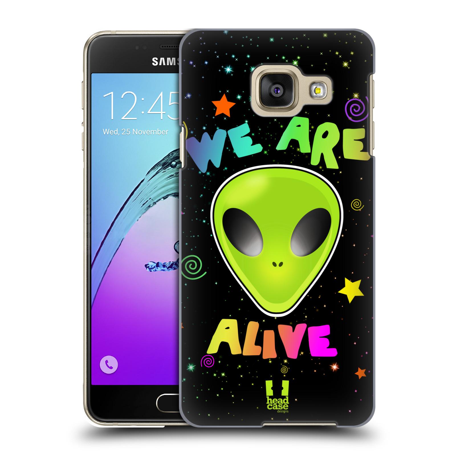 Plastové pouzdro na mobil Samsung Galaxy A3 (2016) HEAD CASE ALIENS ALIVE