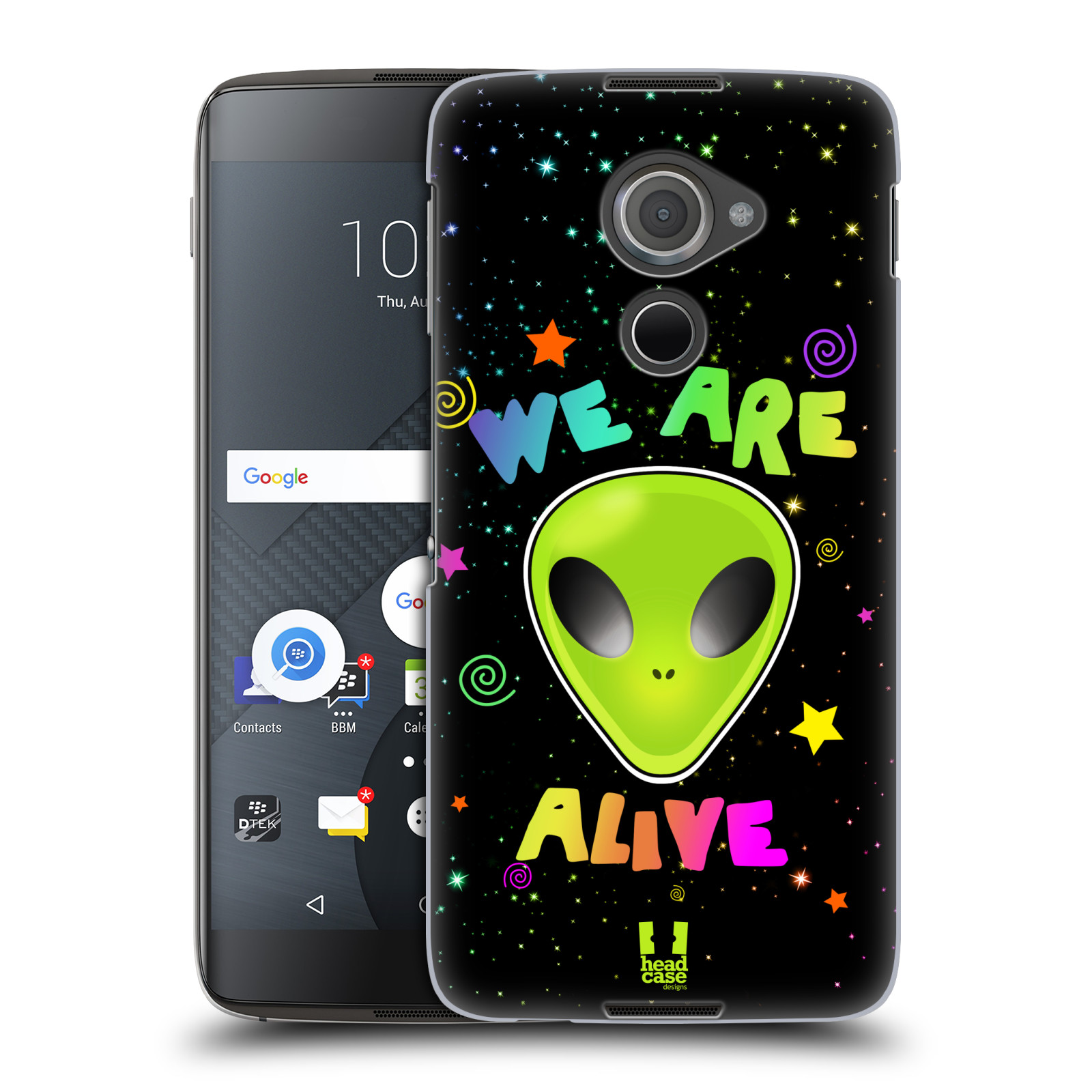 Plastové pouzdro na mobil Blackberry DTEK60 (Argon) - Head Case ALIENS ALIVE