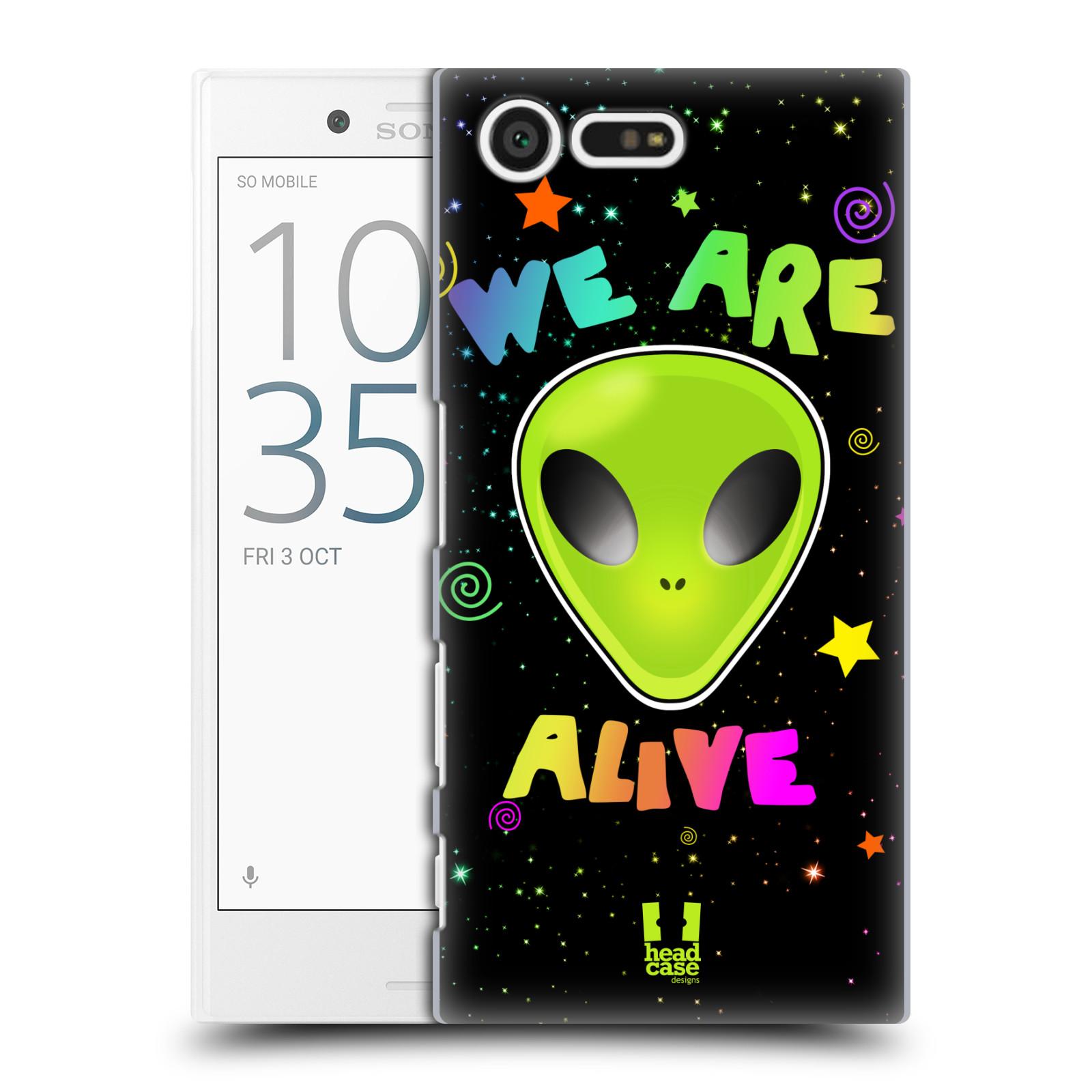 Plastové pouzdro na mobil Sony Xperia X Compact HEAD CASE ALIENS ALIVE