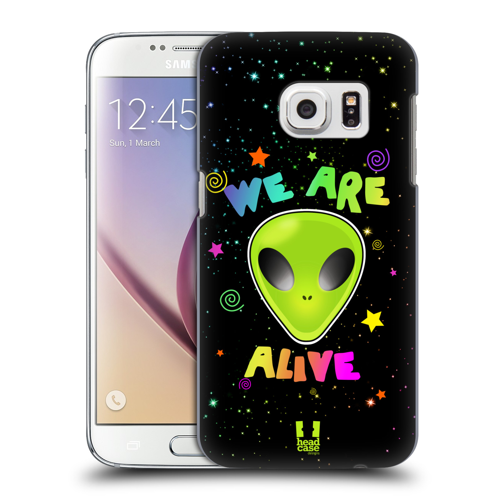 Plastové pouzdro na mobil Samsung Galaxy S7 HEAD CASE ALIENS ALIVE